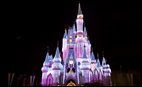 Disney's Cinderella's Castle at night